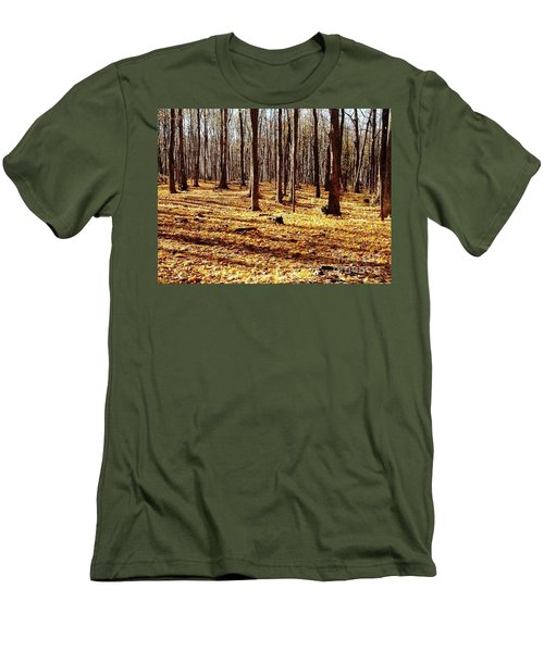 Men's T-Shirt (Slim Fit) featuring the photograph Autumn Leaves by Vicky Tarcau