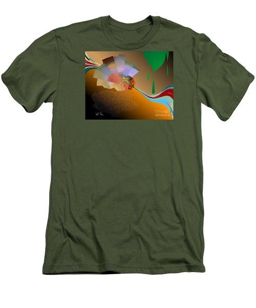 Men's T-Shirt (Slim Fit) featuring the digital art Autumn by Leo Symon