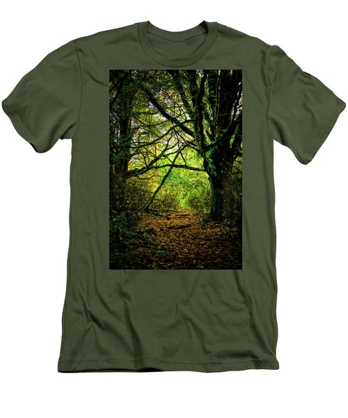 Men's T-Shirt (Slim Fit) featuring the photograph Autumn Light by David Patterson