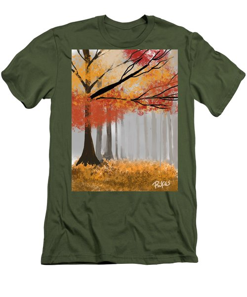 Autumn Mist Men's T-Shirt (Athletic Fit)