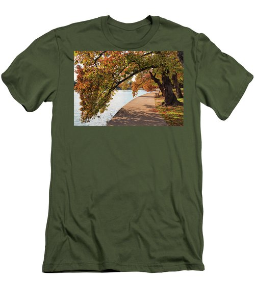 Autumn On The Tidal Basin Men's T-Shirt (Athletic Fit)