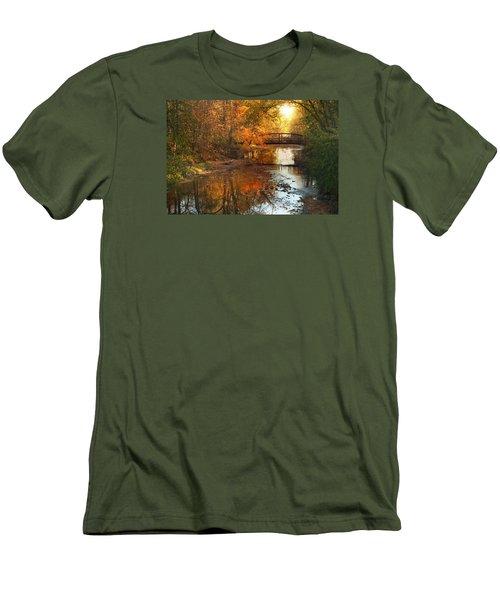 Autumn Over Furnace Run Men's T-Shirt (Slim Fit) by Rob Blair