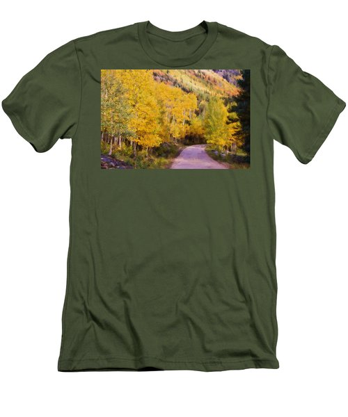 Autumn Passage Men's T-Shirt (Slim Fit) by Lana Trussell