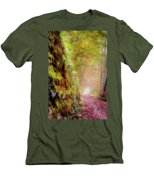 Autumn Path Men's T-Shirt (Athletic Fit)