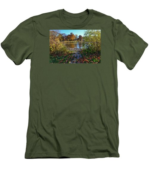 Men's T-Shirt (Slim Fit) featuring the photograph Autumn Pond by Nikki McInnes