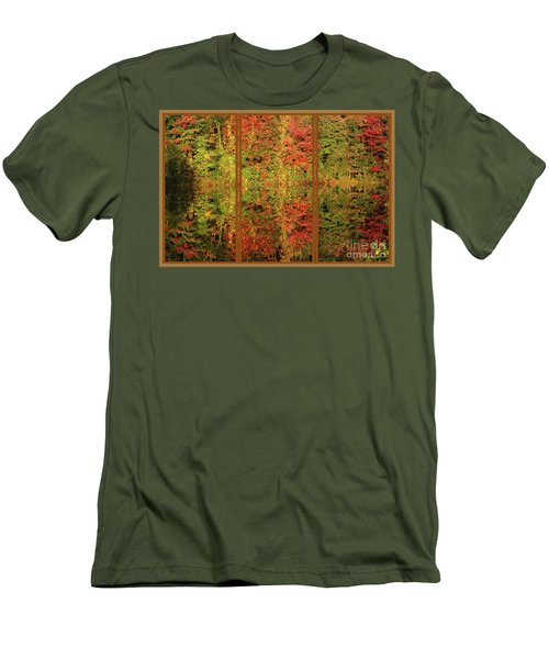 Autumn Reflections In A Window Men's T-Shirt (Slim Fit) by Smilin Eyes  Treasures