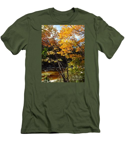 Autumn River Men's T-Shirt (Athletic Fit)