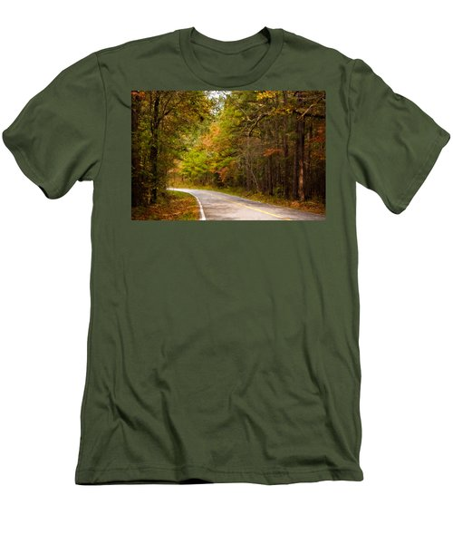 Autumn Road Men's T-Shirt (Slim Fit) by Lana Trussell