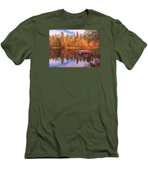 Men's T-Shirt (Slim Fit) featuring the photograph Autumn Season  by Rose-Maries Pictures