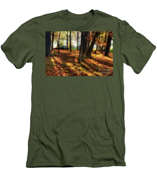 Men's T-Shirt (Slim Fit) featuring the photograph Autumn Shadows In The Blue Ridge by Dan Carmichael