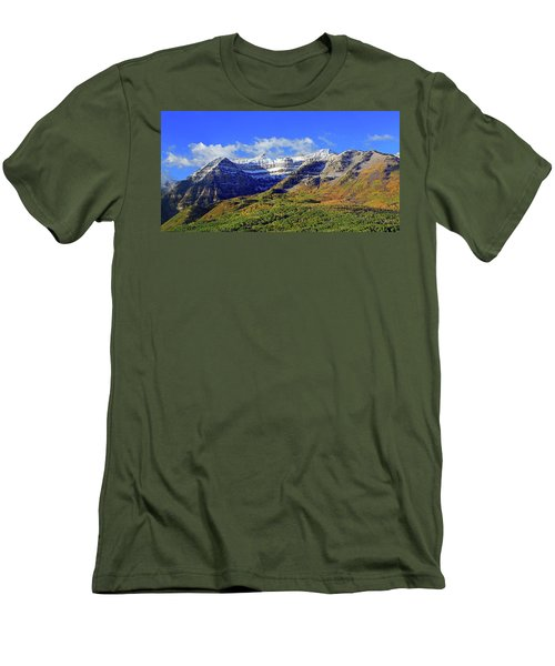 Autumn Snow On Timp Men's T-Shirt (Athletic Fit)