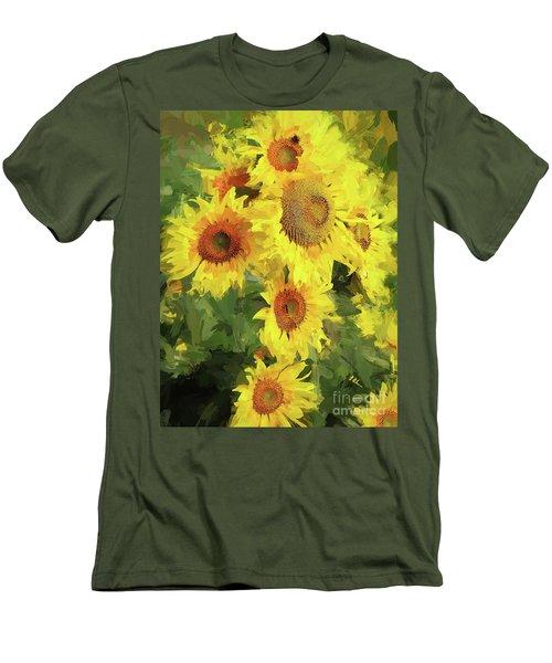 Autumn Sunflowers Men's T-Shirt (Athletic Fit)