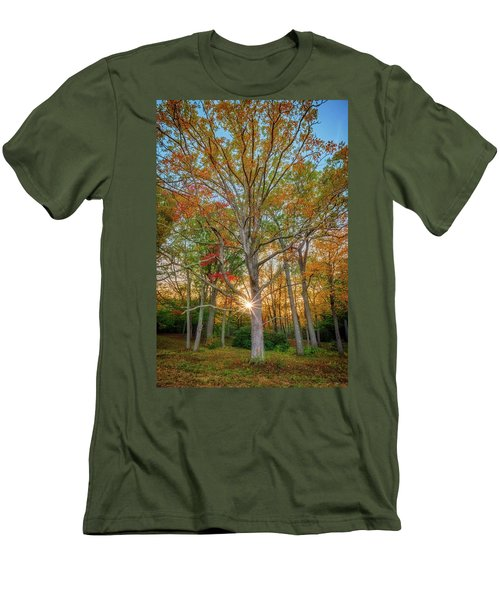 Men's T-Shirt (Athletic Fit) featuring the photograph Autumn Sunset Through The Trees by Rick Berk
