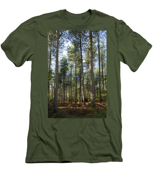 Autumn Tranquil Forest Men's T-Shirt (Athletic Fit)