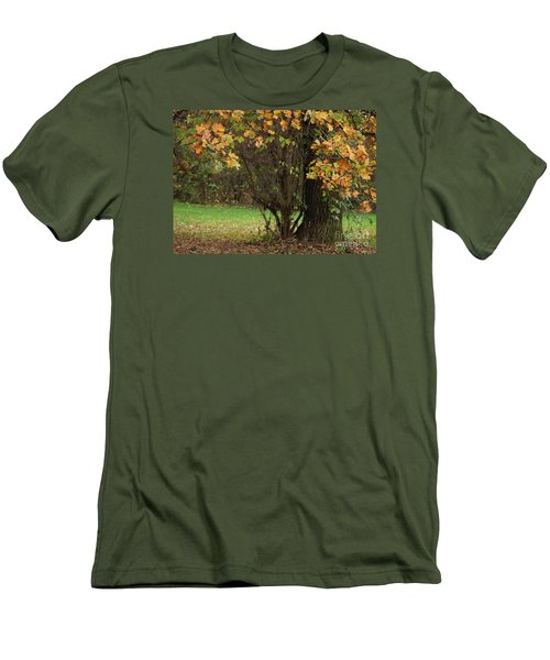 Autumn Tree 2 Men's T-Shirt (Slim Fit) by Rudi Prott
