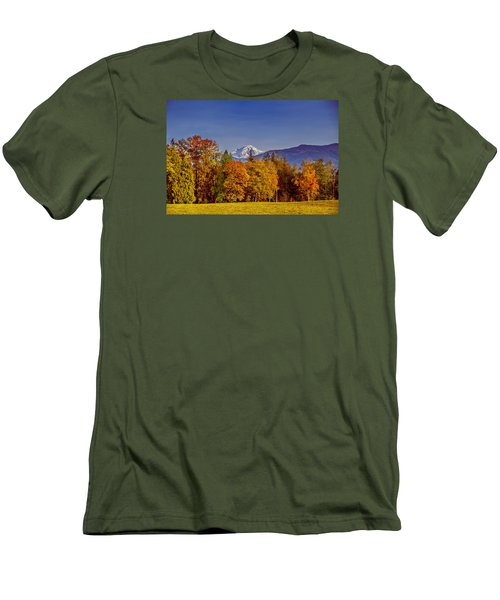 Autumn View Of Mt. Baker Men's T-Shirt (Athletic Fit)