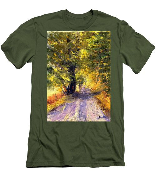Autumn Walk Men's T-Shirt (Slim Fit) by Gail Kirtz