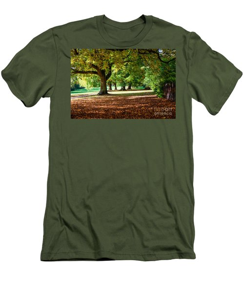Autumn Walk In The Park Men's T-Shirt (Slim Fit) by Colin Rayner
