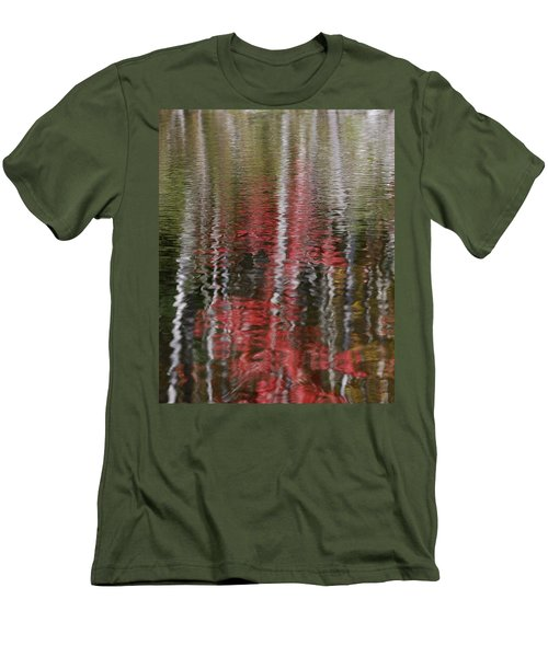 Men's T-Shirt (Slim Fit) featuring the photograph Autumn Water Color by Susan Capuano
