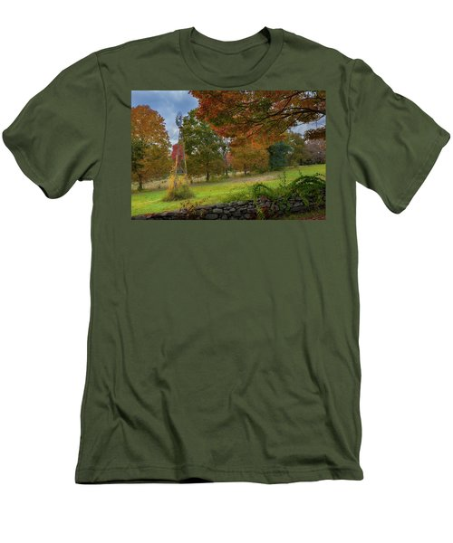 Men's T-Shirt (Slim Fit) featuring the photograph Autumn Windmill by Bill Wakeley