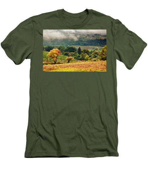 Autumnal Hills Men's T-Shirt (Slim Fit) by Silvia Ganora
