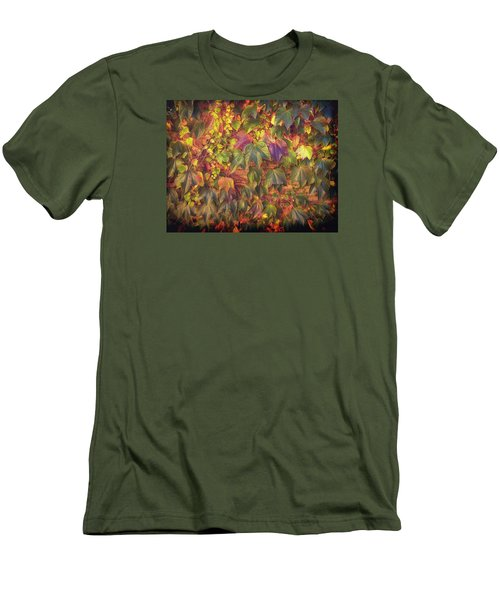 Autumnal Leaves Men's T-Shirt (Athletic Fit)