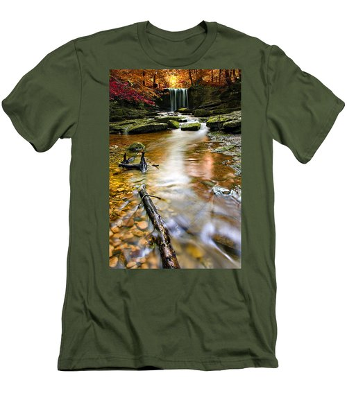 Autumnal Waterfall Men's T-Shirt (Athletic Fit)