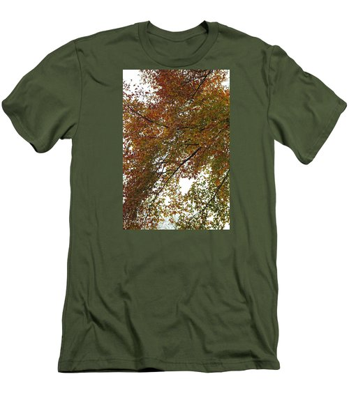 Autumn's Abstract Men's T-Shirt (Slim Fit) by Deborah  Crew-Johnson