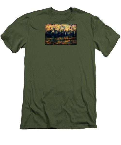 Men's T-Shirt (Slim Fit) featuring the photograph Autumn's Masterpiece by Robin Regan