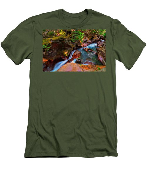 Avalanche Creek Men's T-Shirt (Slim Fit) by Greg Norrell