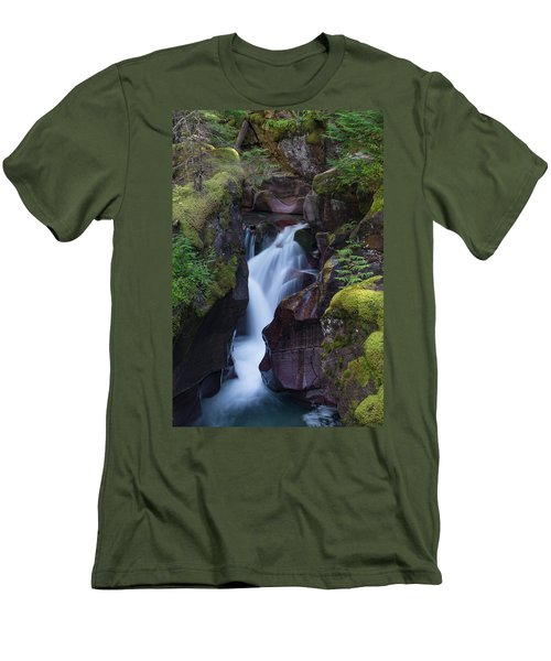 Men's T-Shirt (Athletic Fit) featuring the photograph Avalanche Gorge 3 by Gary Lengyel