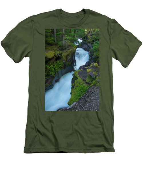 Men's T-Shirt (Athletic Fit) featuring the photograph Avalanche Gorge 6 by Gary Lengyel