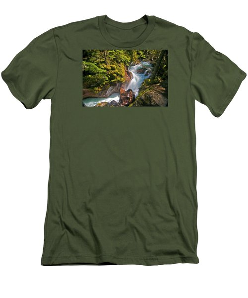 Men's T-Shirt (Slim Fit) featuring the photograph Avalanche Gorge by Gary Lengyel