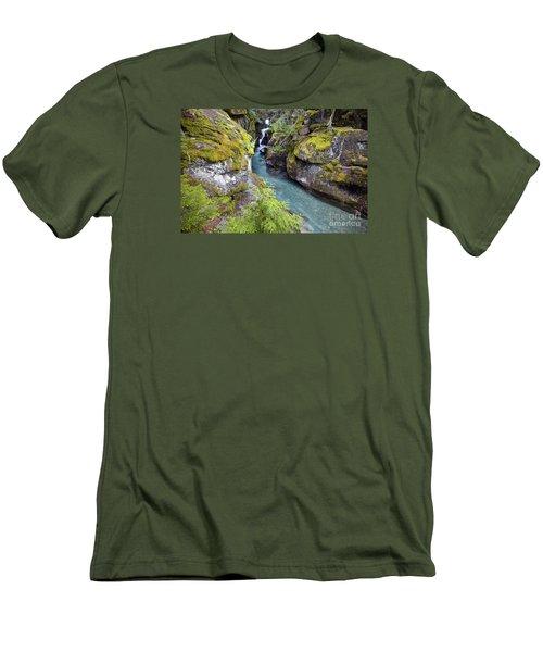 Avalanche Gorge In Glacier National Park Men's T-Shirt (Athletic Fit)