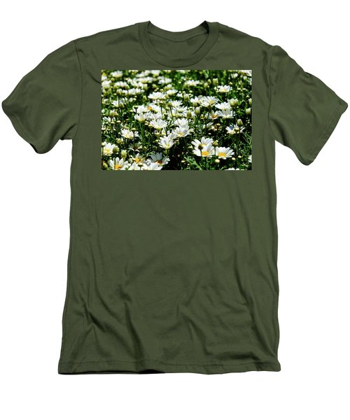 Men's T-Shirt (Athletic Fit) featuring the photograph Avalanche Sun Daises by Monte Stevens