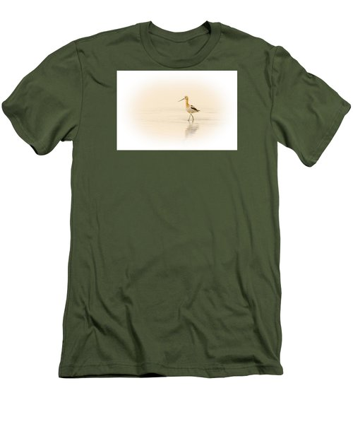 Men's T-Shirt (Slim Fit) featuring the photograph Avocet Walk by Yeates Photography