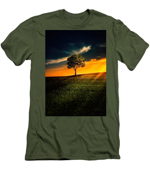 Awesome Solitude II Men's T-Shirt (Slim Fit) by Bess Hamiti
