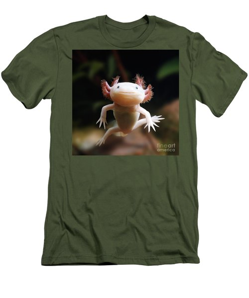 Axolotl Face Men's T-Shirt (Athletic Fit)