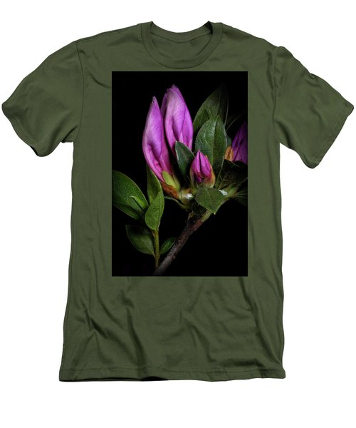 Men's T-Shirt (Slim Fit) featuring the photograph Azalea Buds by Richard Rizzo
