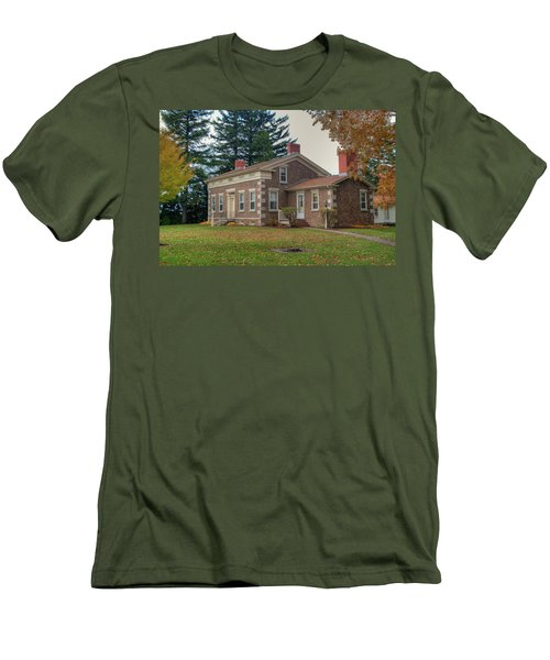 Men's T-Shirt (Slim Fit) featuring the photograph Babcock House Autumn 13937 by Guy Whiteley