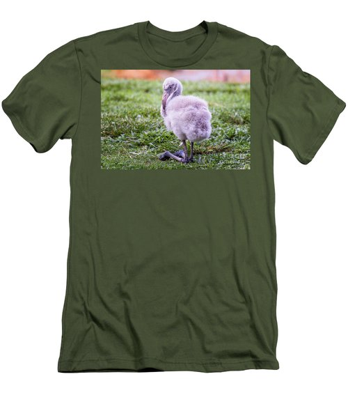 Baby Flamingo Sitting Men's T-Shirt (Athletic Fit)