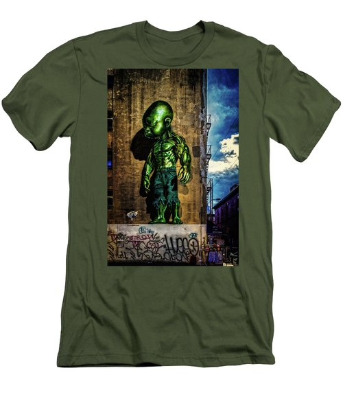 Men's T-Shirt (Athletic Fit) featuring the photograph Baby Hulk by Chris Lord