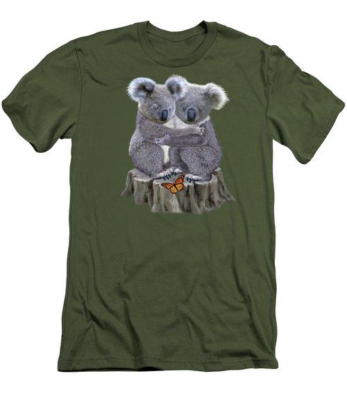 Baby Koala Huggies Men's T-Shirt (Slim Fit) by Glenn Holbrook