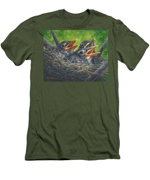 Baby Robins Men's T-Shirt (Slim Fit) by Kim Lockman