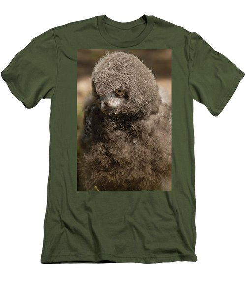 Baby Snowy Owl Men's T-Shirt (Athletic Fit)