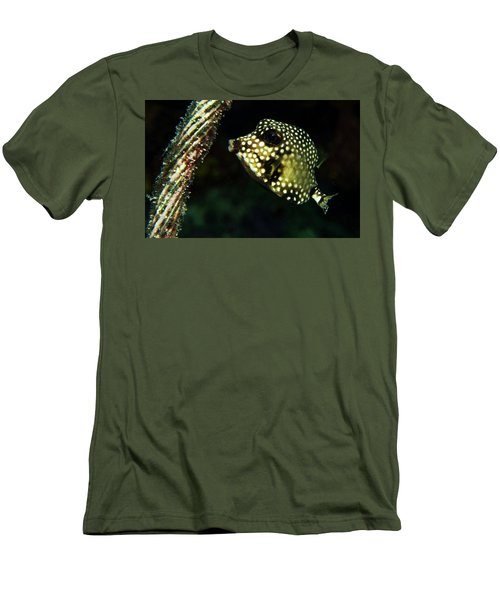 Men's T-Shirt (Slim Fit) featuring the photograph Baby Trunk Fish by Jean Noren