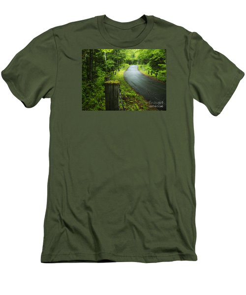 Back Road Men's T-Shirt (Athletic Fit)