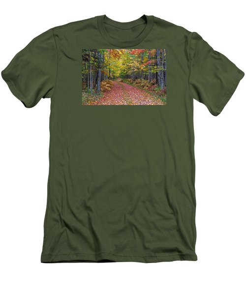 Back Road Color Tour  Men's T-Shirt (Athletic Fit)