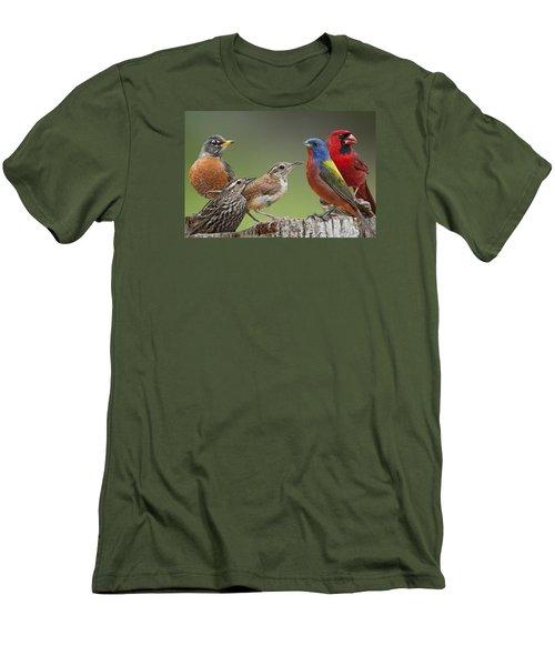 Backyard Buddies Men's T-Shirt (Slim Fit) by Bonnie Barry