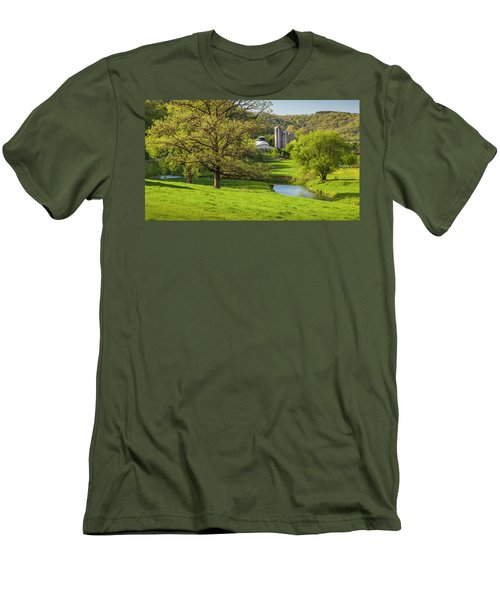 Bad Axe River Men's T-Shirt (Athletic Fit)